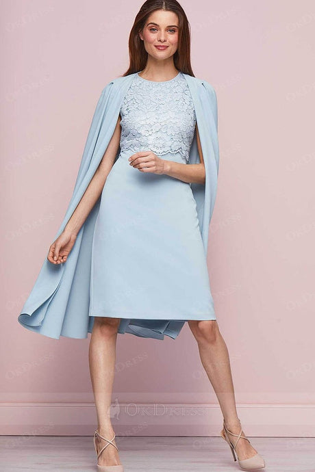 Sleeveless Mother of the Bride Dresses with Cape Outfit