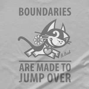 Boundaries . Gray Print . Women's T-Shirt