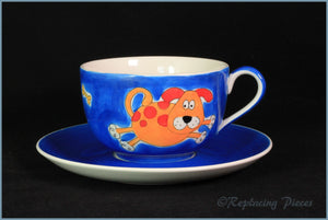 Whittards - Breakfast Cup & Saucer (Dog & Bone)
