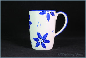 RPW66 - Whittards - Mug (Blue Flowers)