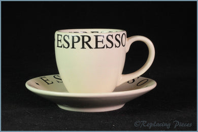 RPW67 - Whittards - Essentials Espresso Coffee Cup & Saucer