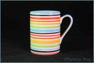 RPW69 - Whittards - Multi Coloured Striped Mug