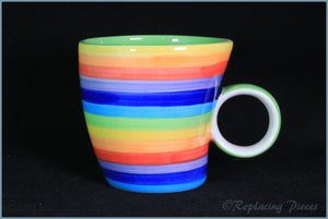 RPW80 - Whittards - Multi Coloured Striped Mug
