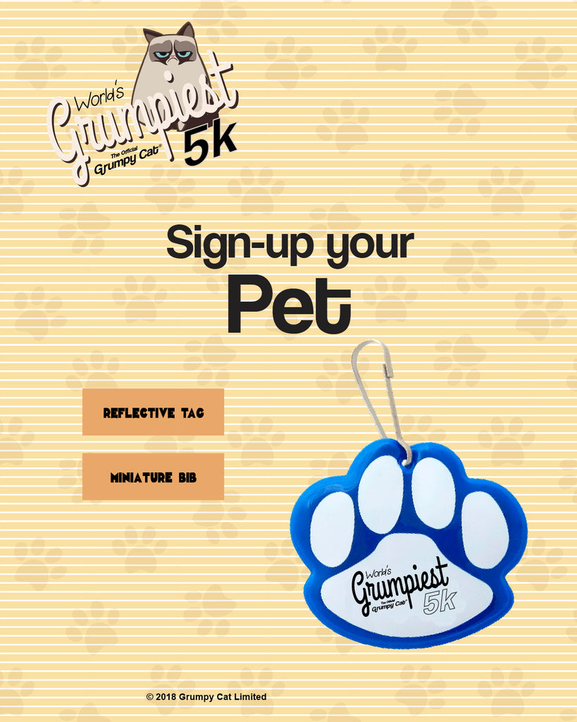 Sign-up your Pet for the World's Grumpiest 5k