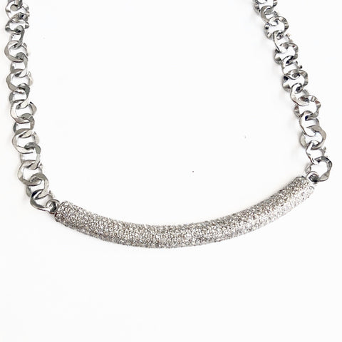 THICK PAVE DIAMOND BAR NECKLACE - A.FIER LIFESTYLE