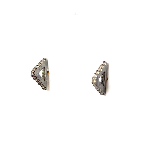 PAVE DIAMOND SPIKE STUD EARRINGS - A.FIER LIFESTYLE