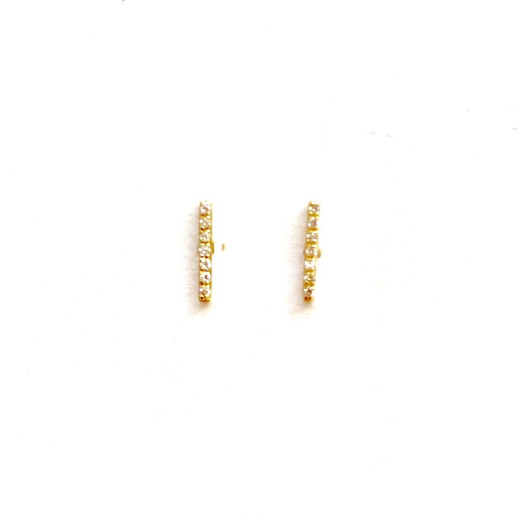 Small Diamond Stick Earrings