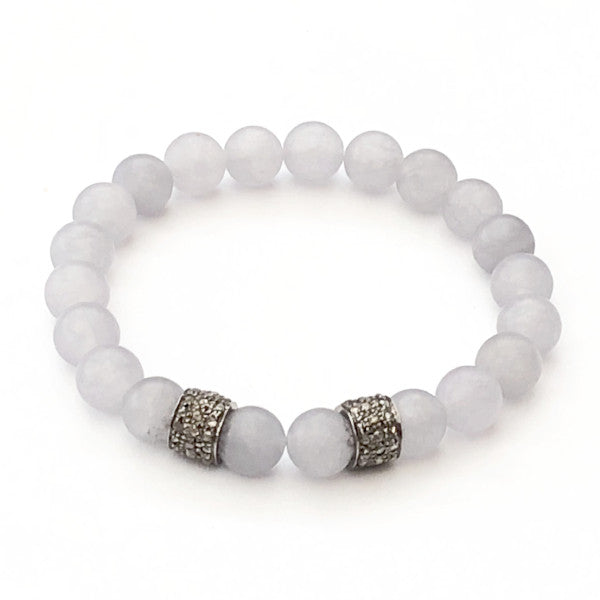 GREY AGATE WITH TWO DIAMOND SPACERS - A.FIER LIFESTYLE