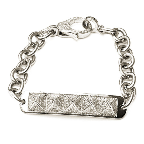 PAVE DIAMOND AND CHAIN PYRAMID 'GWEN' BRACELET - A.FIER LIFESTYLE
