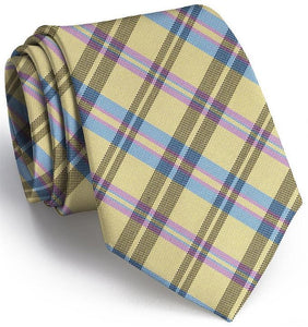 Bird Dog Bay ACCESSORIES - NECKWEAR - TIES Bird Dog Bay, Paddock Plaid Tie, Yellow