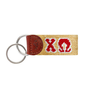 Smathers & Branson ACCESSORIES - KEY FOBS - GREEK Smathers & Branson, Chi Omega Needlepoint Key Fob