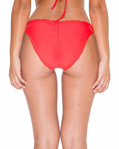 GIRL ON FIRE COSITA BUENA RUCHED FULL TIE SIDE BOTTOM LULI FAMA L17602F-417