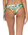 GUANTANAMERA CRYSTAL SEAMLESS RUCHED BRAZILIAN TIE SIDE BOTTOM LULI FAMA L53702P-111