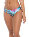 CAYO HUESO SO CLOSE FULL RUCHED BACK BOTTOM LULI FAMA L54452P-111