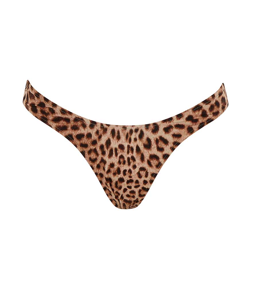 LEOPARD U BIKINI BOTTOM BY MONICA HANSEN