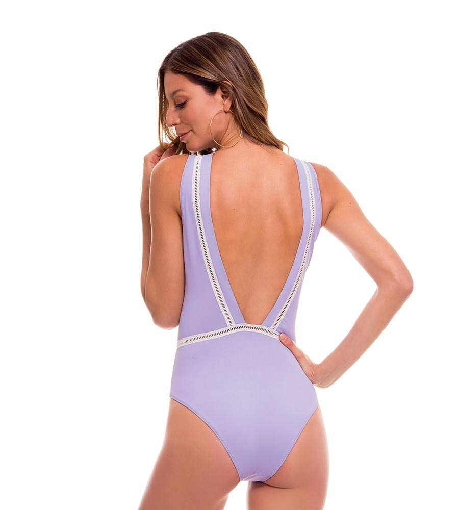 ROMANTIC FLOWERS LILAC ONE PIECE BY MILONGA