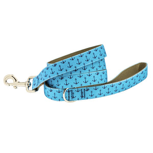 Our Good Dog Spot Anchors Aweigh Dog Lead Blue