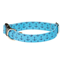 Our Good Dog Spot Anchors Aweigh Preppy Dog Collar Bowens Wharf Blue
