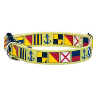 Our Good Dog Spot Love My Dog Nautical Signal Flag Dog Collar Pistachio