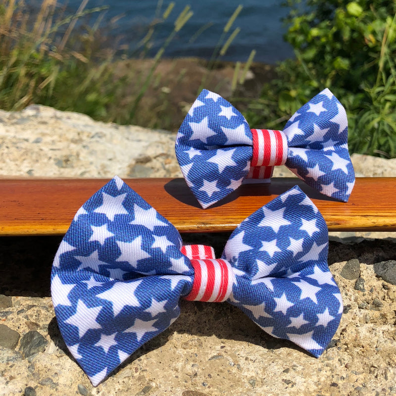 Our Good Dog Spot Stars and Stripes Forever Bow Tie