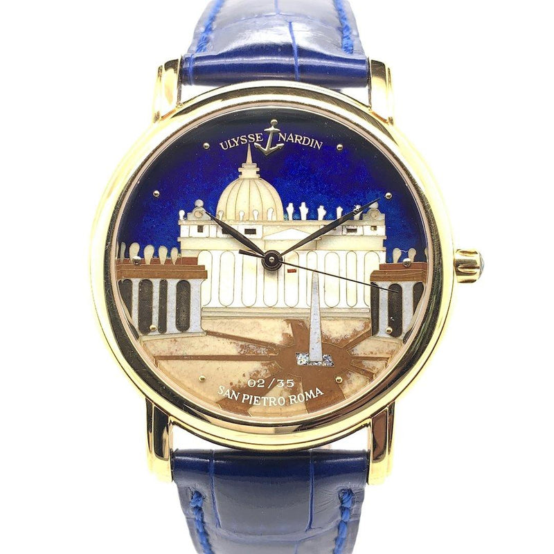 Ulysse Nardin San Marco San Pietro Roma Enamel Dial 18K Yellow Gold Limited Edition