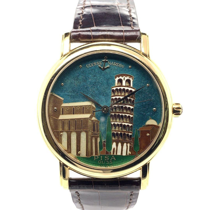 Ulysse Nardin San Marco Pisa Enamel Dial 18K Yellow Gold Limited Edition