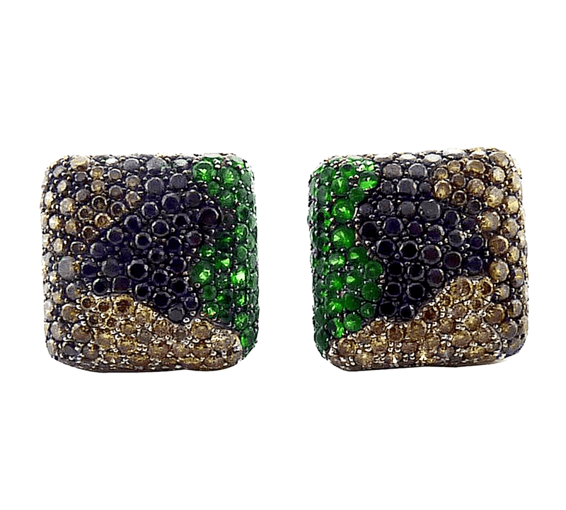 De Grisogono Tsavorite and Diamond 18 Karat Gold Earrings - Twain Time, Inc.