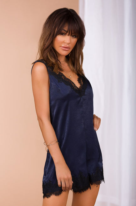 Teenage Dream Romper - Navy