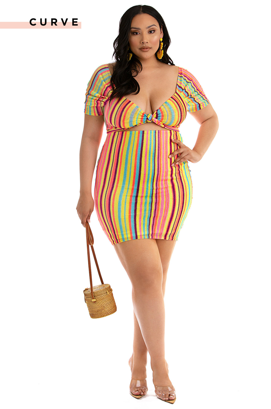 Tropi-Call Me Dress - Multi Color