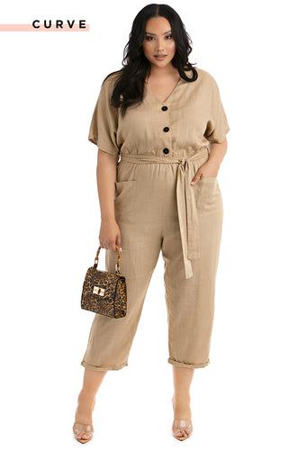 Timeless Summer Jumpsuit - Beige