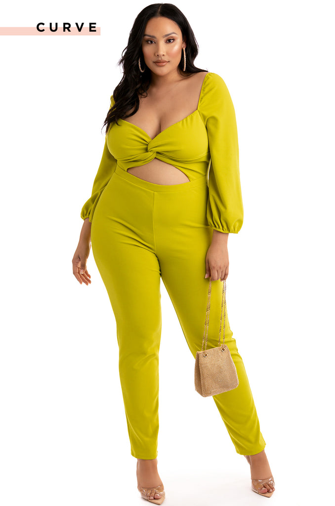 Got You Sprung Jumpsuit - Lime