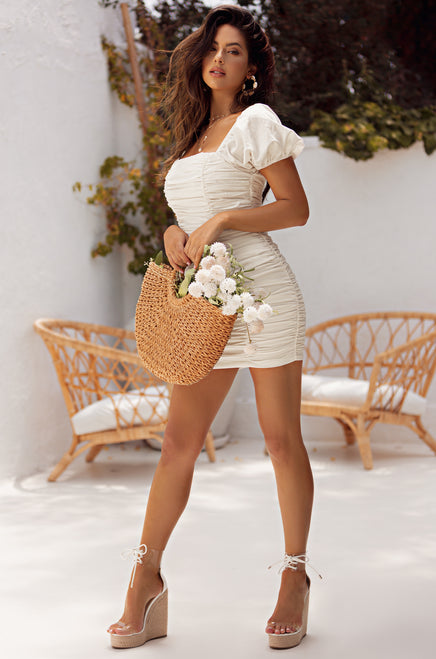 All Dolled Up Dress - White