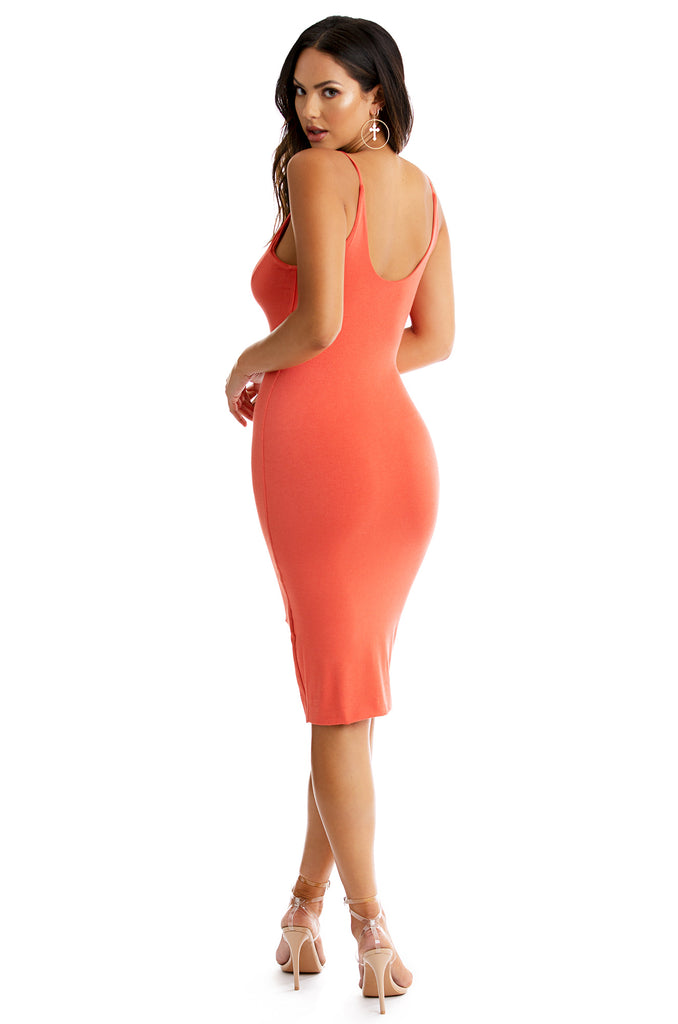 Summer Temptation Dress - Rust