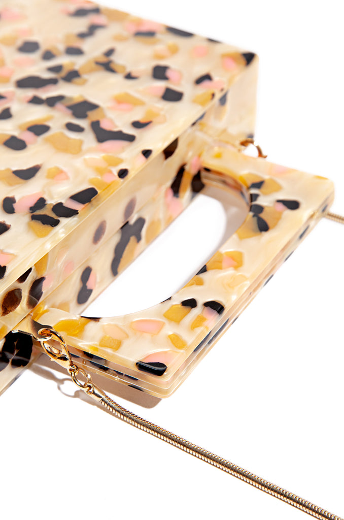 Haute To Handle Clutch - Marble