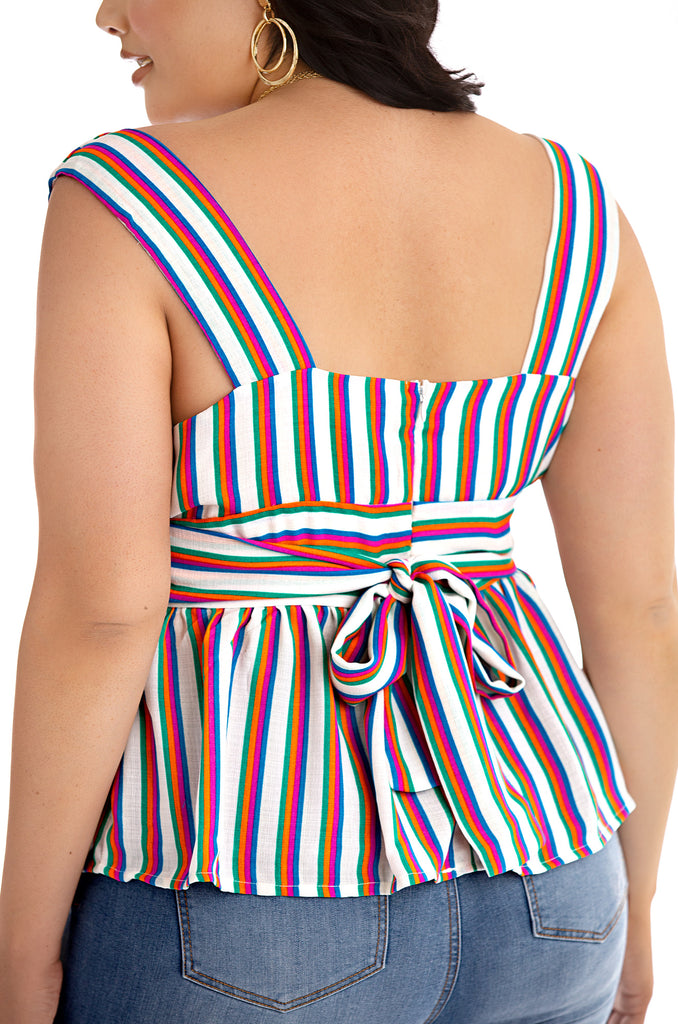 Let's Talk Tea Top - Multi Color