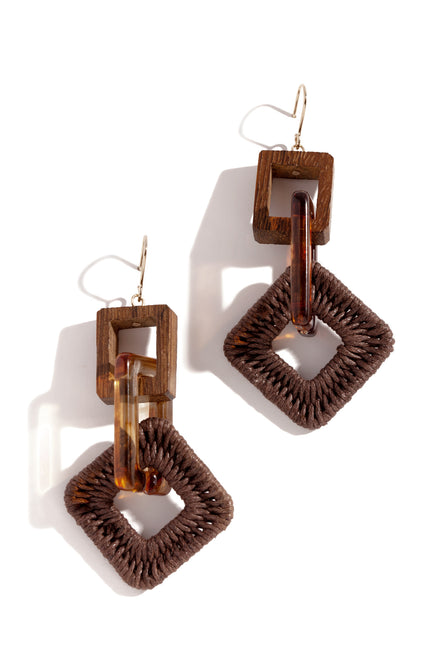Aruba Earring - Brown