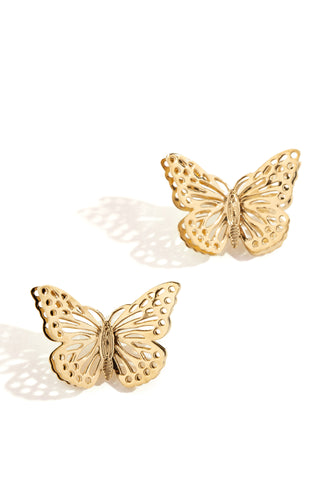 Feeling Butterflies Earring - Gold