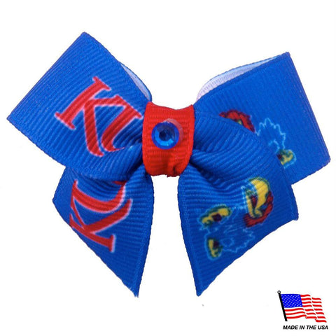 Kansas Jayhawks Pet Hair Bow