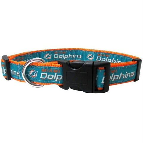 Miami Dolphins Pet Collar by Pets First - XL