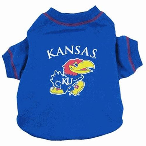 Kansas Jayhawks Dog Tee Shirt