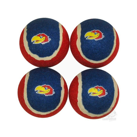 Kansas Jayhawks Tennis Ball 4-Pak