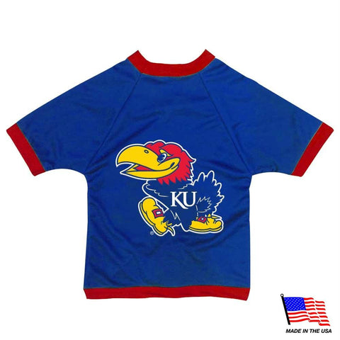 Kansas Jayhawks Athletic Mesh Pet Jersey