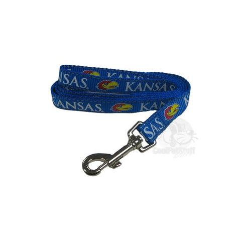 Kansas Jayhawks Pet Reflective Nylon Leash