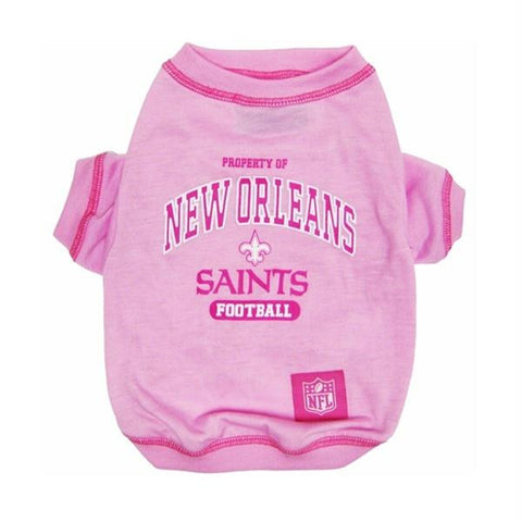 New Orleans Saints Pink Dog T-Shirt