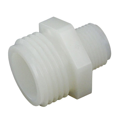 Garden Hose Adapter Male Nylon  - 3/4 MGHT x 1/2 MNPT