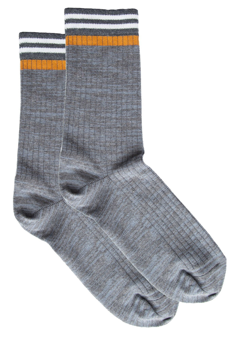 Macon Sock Middle Grey Mel Sock MP Crafted Garments - der ZEITGEIST