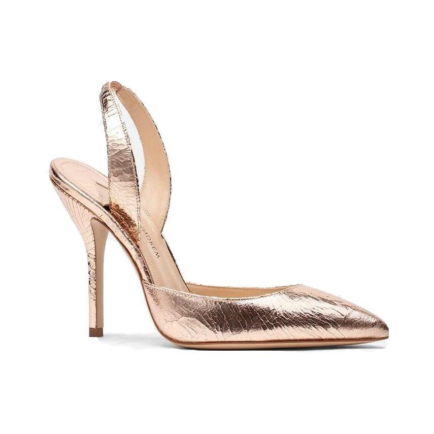 Passion: Distressed Leather Slingbacks in Rose Gold Shoes Paul Andrew - der ZEITGEIST