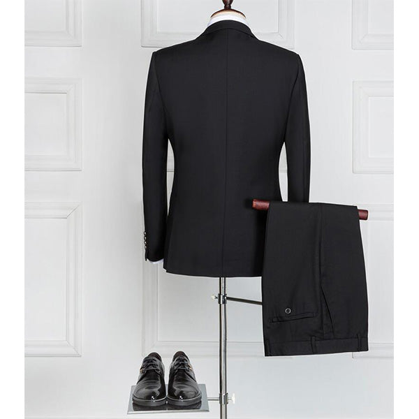 3 Pieces Tuxedo Wedding Groom Skinny Business Formal Prom Suits