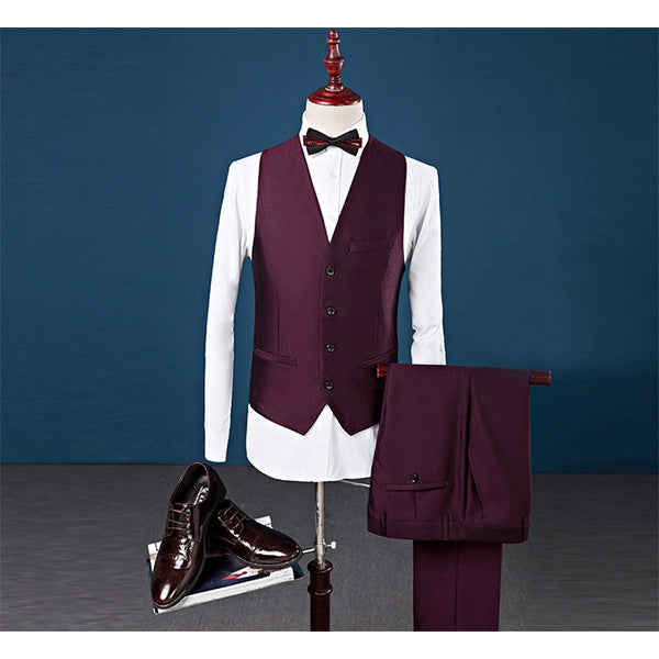 3 Pieces Tuxedo Wedding Groom Formal Prom Suits