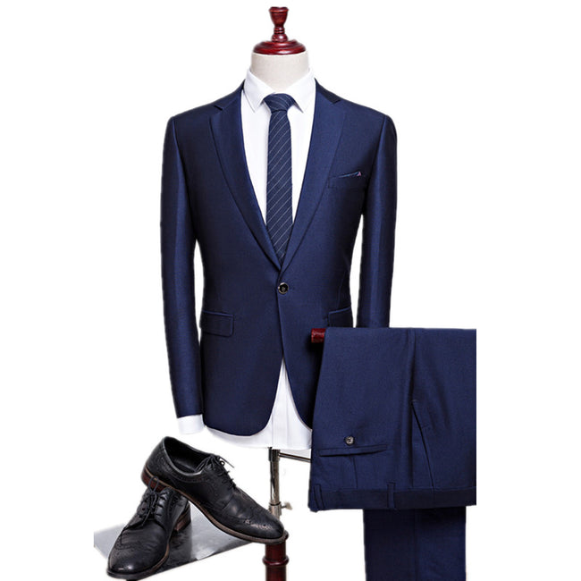 New Autumn Men Single Breasted Cotton Wedding Business Formal Suits